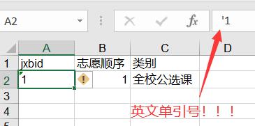 Excel表格填写方式